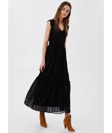 Vestito lungo Liu Jo nero con ricami